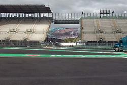 October 25, 2017 - EUM20171025DEP09.JPG.CIUDAD DE MÉXICO RacesCarreras-GP México.- Aspectos generales de la zona del Foro Sol del Autódromo Hermanos Rodríguez. La pista se aprecia en óptimas condiciones a dos días de que inicie el Gran Premio de México, 25 de octubre de 2017. Foto: Agencia EL UNIVERSALRenzo ChiquitoMAVC (Credit Image: © El Universal via ZUMA Wire)