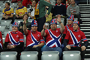 Fans of Norway during the EHF 2018 Men's European Championship, 2nd Round, Handball match between Serbia and Norway on January 18, 2018 at the Arena in Zagreb, Croatia - Photo Laurent Lairys / ProSportsImages / DPPI