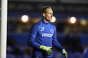 Brighton & Hove Albion goalkeeper Casper Ankergren (16) during the EFL Sky Bet Championship match between Birmingham City and Brighton and Hove Albion at St Andrews, Birmingham, England on 17 December 2016.