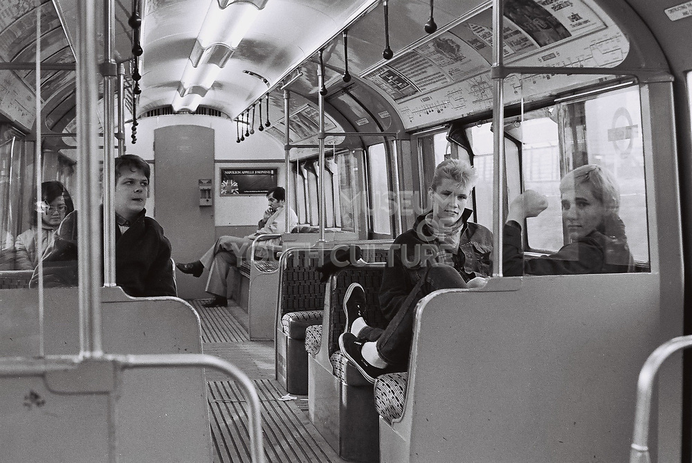 Teenagers on the Central Line, London, UK, 1983