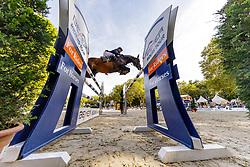 STÜHLMEYER Patrick (GER), Varihoka du Temple<br /> Paderborn - OWL Challenge 5. Etappe BEMER Riders Tour 2019<br /> - Stechen -<br /> Großer Preis von Paderborn (CSI3*)<br /> Springprüfung mit 2 Umläufen, international <br /> BEMER Riders Tour, Wertungsprüfung 5. Etappe <br /> 15. September 2019<br /> © www.sportfotos-lafrentz.de/Stefan Lafrentz