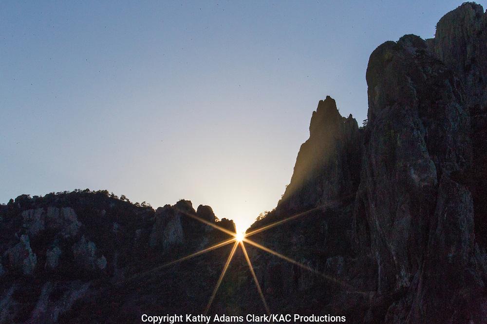 Star burst, Big Bend National Park, Chihuahuan Desert, west Texas