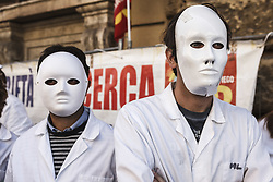 October 3, 2017 - Rome, Italy - Italian precarious researchers held a demonstration in front of the Ministry of Economy and Finance to denounce the European Union's economic policies and to claim the recruitment of 10,000 precarious workers in Rome, Italy on October 03, 2017. (Credit Image: © Giuseppe Ciccia/NurPhoto via ZUMA Press)
