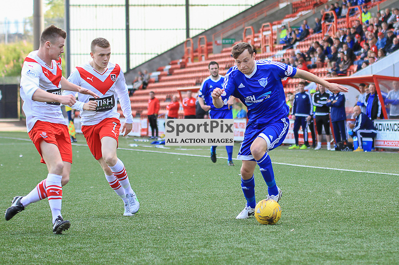 Airdrieonians V Peterhead  Scottish League One 29 August 2015;  Airdrie's Scott Smith during the Airdrieonians V Peterhead Ladbrokes Scottish League One match played at Excelsior Stadium, Airdrie.