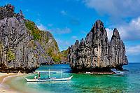 Philippines, ile de Palawan, archipel de Bacuit at El Nido // Philippines, Palawan island, Bacuit archipelago at El Nido