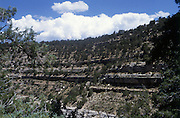 Walnut Canyon National Monument, Sinauga Culture, 1125 - 1250 A.D., cliff dwellings, Flagstaff, Arizona, USA.