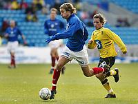 Fotball. Eliteserien Vålerenga - Start. Tobias Grahn, VIF og Kristoffer Hæstad, Start.<br /> <br /> Foto: Andreas Fadum, Digitalsport