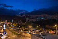 Medellin, Antioquia, Colombia: city view by night.