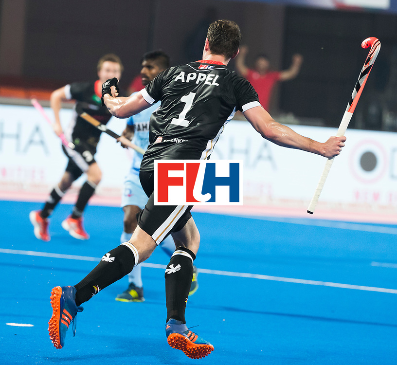 BHUBANESWAR - Hockey World League finals Match for bronze , Germany v India (1-2).  Mark Appel (Ger) scored . COPYRIGHT KOEN SUYK