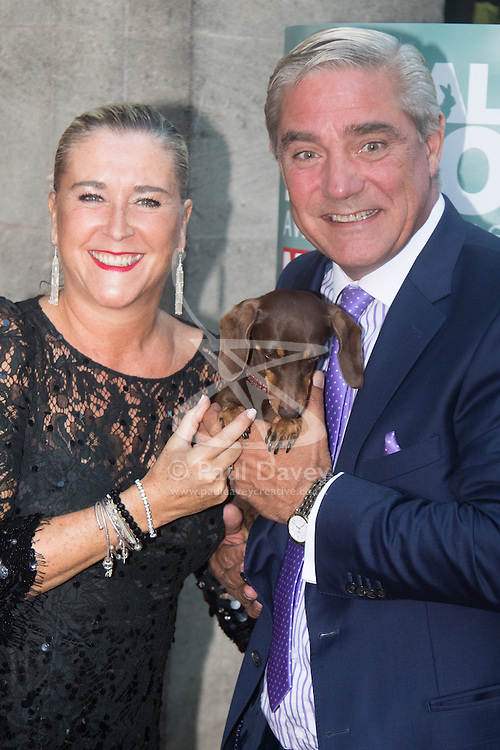 Grosvenor House Hotel, London, September 7th 2016. Celebrities attend the RSPCA's annual awards ceremony recognising the country's bravest animals and the individuals committed to improving their lives. PICTURED: Steph and Dom from Gogglebox