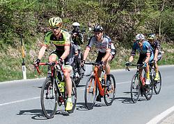 22.04.2019, Kufstein, AUT, Tour of the Alps, 1. Etappe, Kufstein - Kufstein, 144km, im Bild // v.l. Maximilian Kuen (AUT, Team Vorarlberg), Patrick Gamper (AUT, Tirol KTM Cycling Team), Matthias Krizek (AUT, Team Felbermayr Simplon Wels) during the 1st Stage of the Tour of the Alps Cyling Race from Kufstein to Kufstein (144km) in in Kufstein, Austria on 2019/04/22. EXPA Pictures © 2019, PhotoCredit: EXPA/ Reinhard Eisenbauer