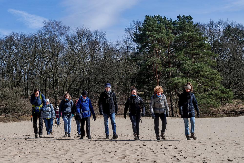 18-03-2018 NED: We hike to change diabetes, Soest<br /> Training voor de Camino 2018 op de Soesterduinen / track hiking lopen zand groep