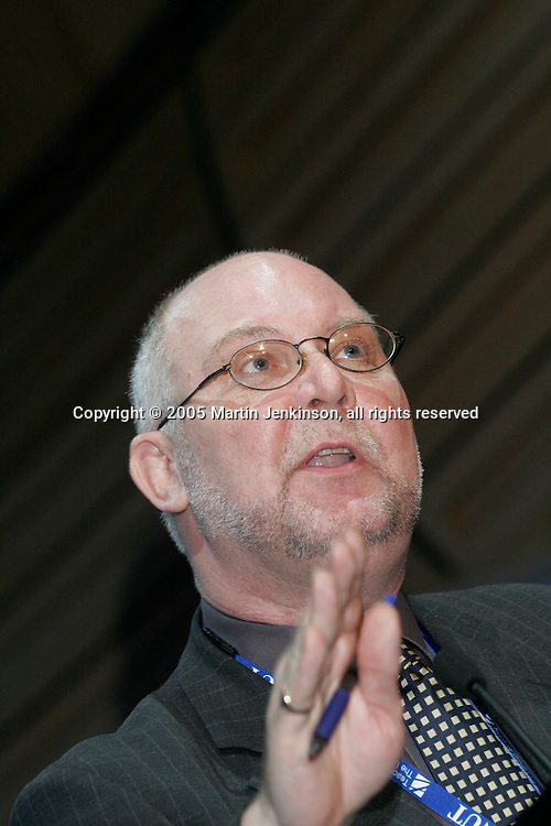 Bill Greenshields, Executive Council, speaking at the NUT Conference 2005..© Martin Jenkinson, tel 0114 258 6808 mobile 07831 189363 email martin@pressphotos.co.uk. Copyright Designs & Patents Act 1988, moral rights asserted credit required. No part of this photo to be stored, reproduced, manipulated or transmitted to third parties by any means without prior written permission