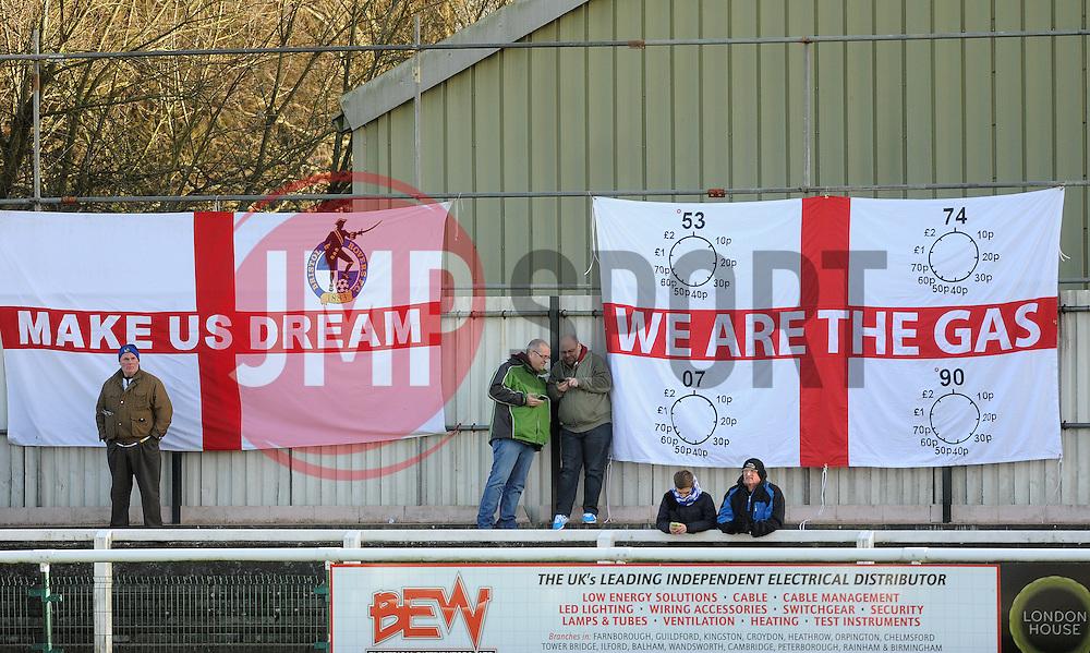 Flags - Photo mandatory by-line: Neil Brookman/JMP - Mobile: 07966 386802 - 17/01/2015 - SPORT - Football - Woking - Kingfield Stadium - Woking v Bristol Rovers - Vanarama Conference