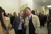 Anthony Fawcett and Malcolm McLaren. Out There opening. White Cube. April 13 2000<br />