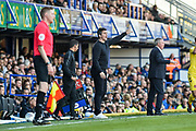 Fleetwood Town Manager, Joey Barton on the side line during the EFL Sky Bet League 1 match between Portsmouth and Fleetwood Town at Fratton Park, Portsmouth, England on 20 October 2018.