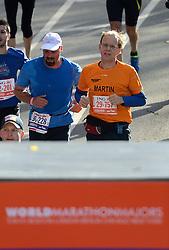 03-11-2013 ALGEMEEN: BVDGF NY MARATHON: NEW YORK <br /> De NY marathon werd weer een groot succes voor de BvdGf. Alle lopers hebben met prachtige tijden de finish gehaald / Martin finisht in 4:28:48<br /> ©2013-FotoHoogendoorn.nl
