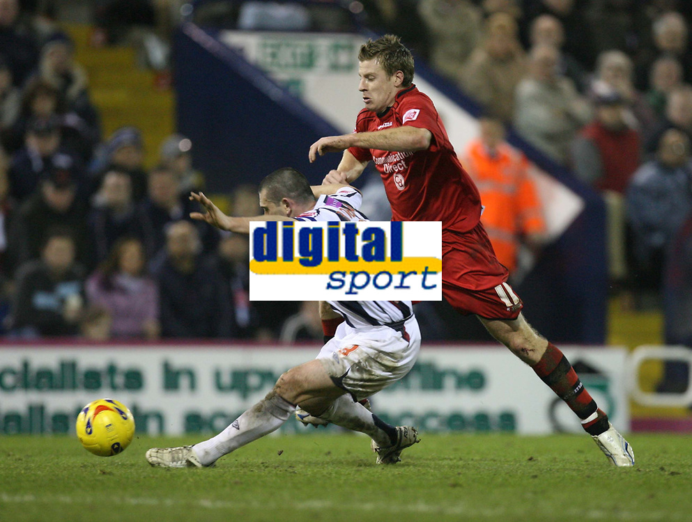 Photo: Rich Eaton.<br /> <br /> West Bromwich Albion v Cardiff City. Coca Cola Championship. 20/02/2007. Paul Parry right of Cardiff tries to get past West Broms Paul Robinson