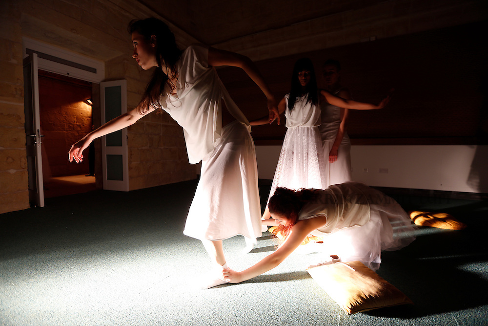 Annual Collective Performance of the School of Performing Arts.<br /> <br /> White<br /> White is a performance about space, or the absence of it. <br /> Once upon a time, characters were in search of an author. Today they are in search of a space. The characters, played by the students of the School of Performing Arts at the University of Malta, are lost in a corridor in-between places. Around them all is empty. A void. Like a vault, all they have is&hellip;White!<br /> <br /> Photo: Darrin Zammit Lupi
