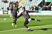 Dimitar Evtimov (26) of Burton Albion warming up before the EFL Sky Bet League 1 match between Plymouth Argyle and Burton Albion at Home Park, Plymouth, England on 20 October 2018.