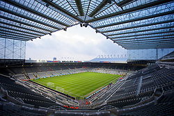25.03.2014, St. James Park, Newcastle, ENG, Premier League, Newcastle United vs FC Everton, 28. Runde, im Bild A general view of St James' Park, home of Newcastle United // during the English Premier League 28th round match between Newcastle United and Everton FC at the St. James Park in Newcastle, Great Britain on 2014/03/25. EXPA Pictures © 2014, PhotoCredit: EXPA/ Propagandaphoto/ David Rawcliffe<br /> <br /> *****ATTENTION - OUT of ENG, GBR*****