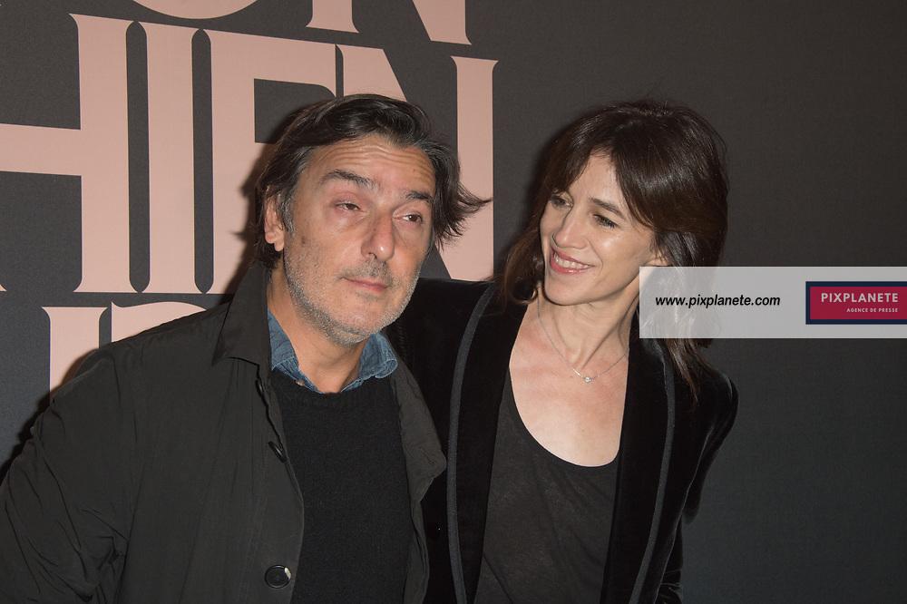 Charlotte Gainsbourg - Yvan Attal  Avant première du film Mon chien stupide Mardi 22 Octobre 2019 UGC Normandie Paris