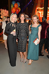 Left to right, LUCINDA COOK, ANDREA DELLAL and CHARLOTTE DELLAL at 'The World's First Fabulous Fund Fair' in aid of the Naked Heart Foundation hosted by Natalia Vodianova and Karlie Kloss at The Roundhouse, Chalk Farm Road, London on 24th February 2015.
