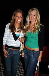 Left to right, MISS NICOLA SEAGROATT and MISS SOPHIE ELLETSON at a party hosted by Frankie Dettori, Marco Pierre White and Edward Taylor to celebrate the launch of Frankie's Italian Bar & Grill at 3 Yeomans Row, London SW3 on 2nd September 2004.