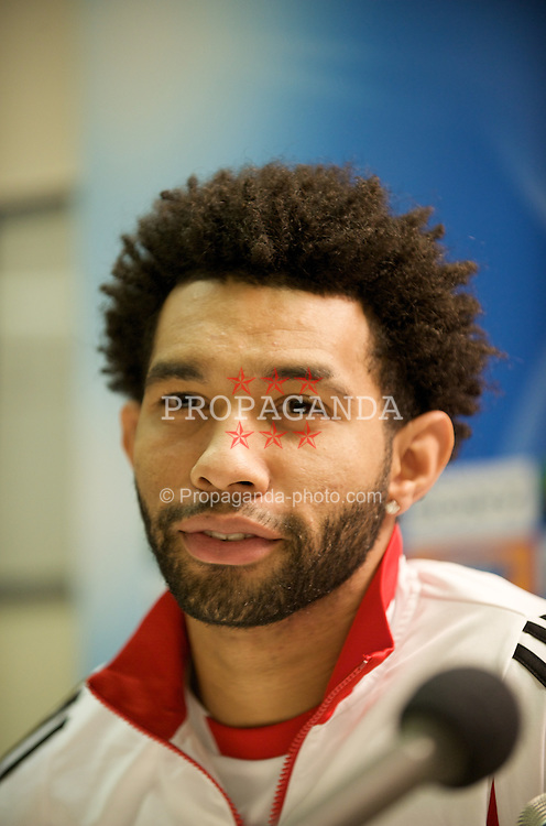 MILAN, ITALY - Monday, March 10, 2008: Liverpool's Jermaine Pennant during a press conference at the San Siro Stadium ahead of the UEFA Champions League First knockout round 2nd Leg match against FC Internazionale Milano. (Pic by David Rawcliffe/Propaganda)