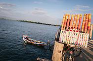 U Bein Bridge Taungthaman Lake Amarapura Mandalay Myanmar Burma