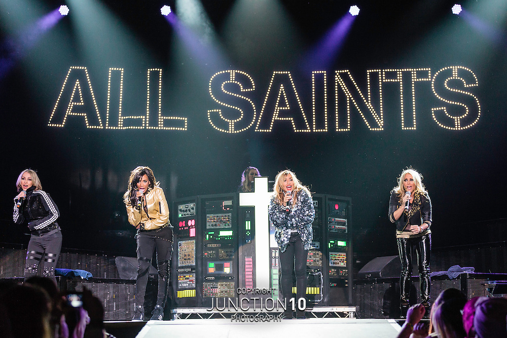 All Saints supporting Backstreet Boys on the first night of the UK Tour at the LG Arena, Birmingham, United Kingdom<br /> Picture Date: 26 March, 2014