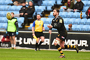 Wasps fly half Danny Cipriani  (10) gets a pass away during the Aviva Premiership match between Wasps and London Irish at the Ricoh Arena, Coventry, England on 4 March 2018. Picture by Dennis Goodwin.