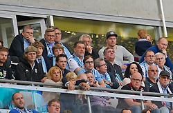 Football: Germany, 2. Bundesliga, TSV 1860 Muenchen - 1.FC Nuernberg, Muenchen - 17.05.2015,<br /> Praesident Gerhard Mayrhofer (mitte, 1860 Muenchen)<br /> <br /> &copy; pixathlon<br /> <br /> +++ NED out !!! +++