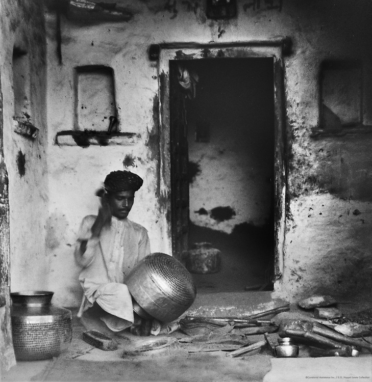 Brass Worker, Udaipur, India, 1929