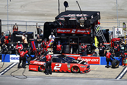 April 29, 2018 - Talladega, Alabama, United States of America - Brad Keselowski (2) brings his car down pit road for service during the GEICO 500 at Talladega Superspeedway in Talladega, Alabama. (Credit Image: © Chris Owens Asp Inc/ASP via ZUMA Wire)