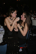 Alexandra Hanratti and Leonora Stevens. White Knights Ball, Grosvenor House Hotel 7 January 2005. ONE TIME USE ONLY - DO NOT ARCHIVE  © Copyright Photograph by Dafydd Jones 66 Stockwell Park Rd. London SW9 0DA Tel 020 7733 0108 www.dafjones.com