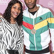 NLD/Amsterdam/20180213 - Edison Pop Awards 2018, Sevn Alias met zijn moeder
