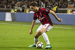 April 8, 2018 - Milan, Milan, Italy - 8th April 2018, San Siro, Milan, Italy; Serie A football, AC Milan versus US Sassuolo; Giacomo Bonaventura of AC Milan (Credit Image: © Gaetano Piazzolla/Pacific Press via ZUMA Wire)
