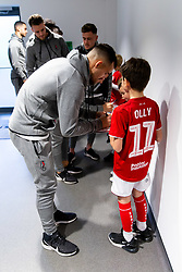 Bailey Wright as Mascots meet the players - Rogan/JMP - 30/11/2019 - Ashton Gate Stadium - Bristol, England - Bristol City v Huddersfield Town - Sky Bet Championship.