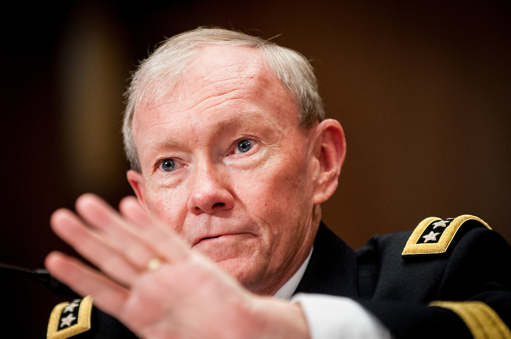 Chairman of the Joint Chiefs of Staff Gen. Martin Dempsey testifies before the Senate Appropriations Committee on the FY2013 Defense Department budget request on Capitol Hill in Washington, D.C, USA, 13 June 2012.