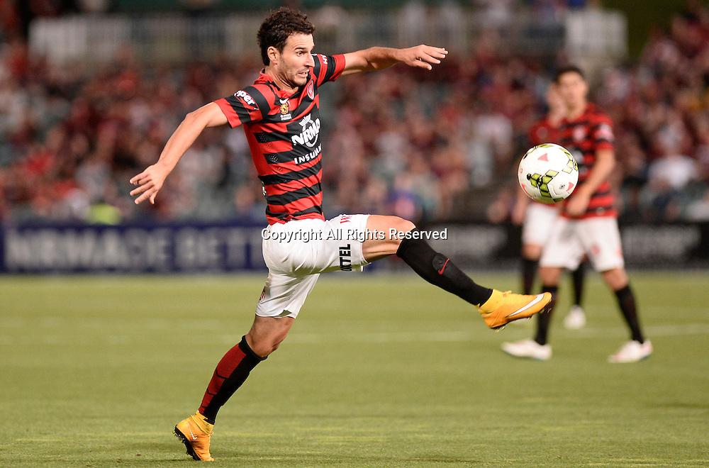 06.01.2015. Sydney, Australia. Hyundai A-League Round 14. Western Sydney Wanderers FC v Melbourne Victory FC. Wanderers forward Labinot Haliti .Victory won the game 2-1.