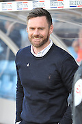 Graham Alexander manager of Scunthorpe United  during the Sky Bet League 1 match between Scunthorpe United and Burton Albion at Glanford Park, Scunthorpe, England on 9 April 2016. Photo by Ian Lyall.