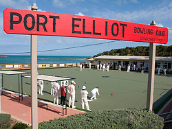 Port Elliot lawn bowling club in Australia