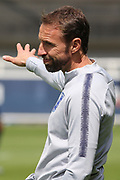 England manager Gareth Southgate issues instructions during the training session for England at St George's Park National Football Centre, Burton-Upon-Trent, United Kingdom on 28 May 2019.
