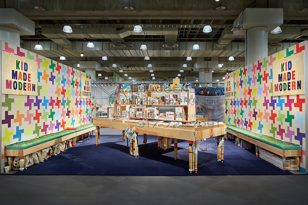 Kid Made Modern exhibit booth at NY NOW trade show designed by Winston Retail Solutions.