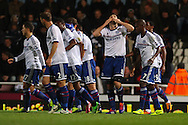 Picture by David Horn/Focus Images Ltd +44 7545 970036<br /> 23/11/2013<br /> Frank Lampard of Chelsea celebrates scoring his team's first goal during the Barclays Premier League match at the Boleyn Ground, London.