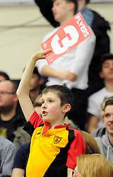 Bristol Flyers fans - Photo mandatory by-line: Dougie Allward/JMP - Mobile: 07966 386802 - 27/02/2015 - SPORT - basketball - Bristol - SGS Wise Campus - Bristol Flyers v Leeds Force - British Basketball League