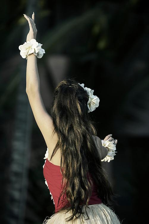 USA, Hawaii, Oahu, Honolulu, Waikiki, hula girl