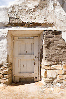 Damaged Adobe Doorway, Santa Cruz Mission State Historic Park, California