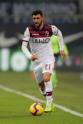 February 3, 2019 - Milan, Milan, Italy - Roberto Soriano #21 of Bologna FC in action during the serie A match between FC Internazionale and Bologna FC at Stadio Giuseppe Meazza on February 3, 2019 in Milan, Italy. (Credit Image: © Giuseppe Cottini/NurPhoto via ZUMA Press)
